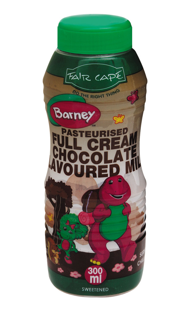 Barney chocolate milk by Fair Cape