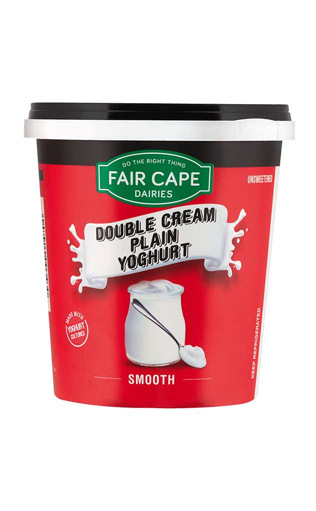 Double Cream yoghurt unsweetened by Fair Cape