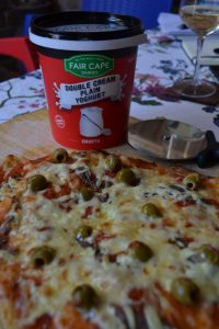 Pizza & Double Cream Yoghurt