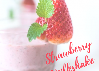 Rosy Red Strawberry Milkshake